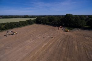 Overhead shot of Orbit Homes site Attlebourough