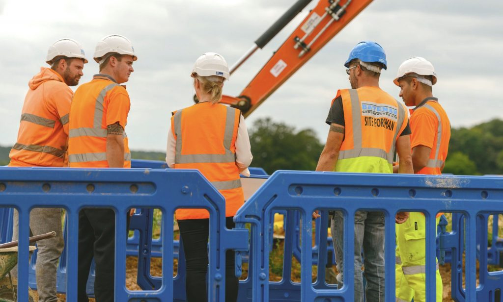 Bateman Groundworks team members on site
