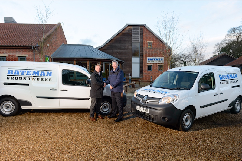 Jason Ramsey collects 45 new vans for Bateman Groundworks fleet