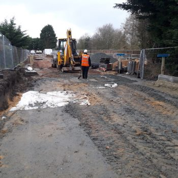 Bateman Groundworks working on Abel Homes site in Watton